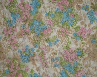 Vintage Quilt Piece | Old Flower Quilt Piece | Antique Quilt Piece | Cutter Quilt Piece