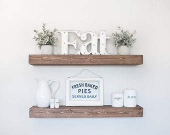 Floating Shelf | Rustic Floating Shelf | Ledge Shelf | Wooden Floating Shelf | Floating Shelves | Farmhouse Decor | Chunky Shelves |