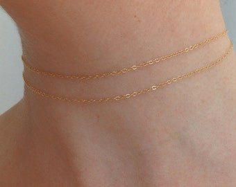 gold necklace, necklace set, necklace chokers, simple necklace, delicate necklace, dainty necklace, dainty chain, chokers. layered chain