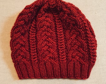Cabled Hat -- Made To Order