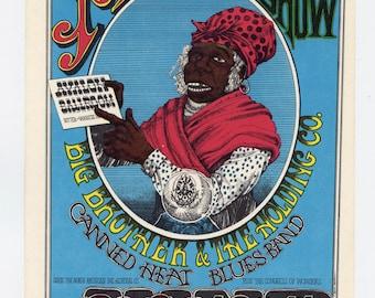 Family Dog 65 Aunt Jemina or Magic Show Postcard  1967 Jul 8 Otis Rush The Mothers