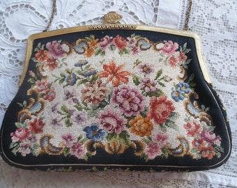 Vintage petit point purse