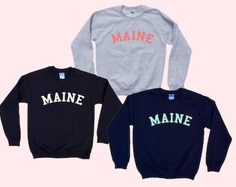 MAINE - Crewneck Sweatshirt