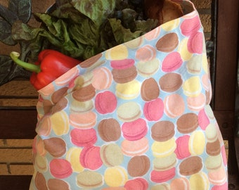 Set of 2 market grocery shopping bags totes