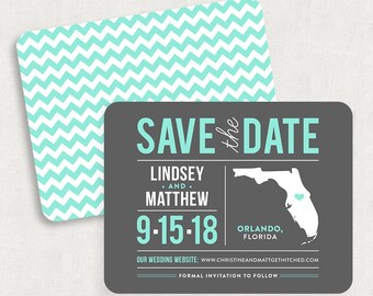 Florida Save the Dates, State Save the Dates, State Save the Date Magnets, Florida Save the Date Magnets, Printable Save the Dates, DIY