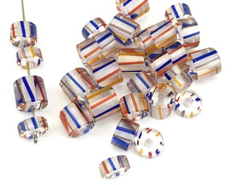 32  furnace glass beads, 6mm to 13mm # PV 061