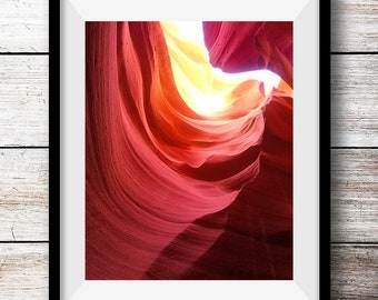 Antelope Canyon Arizona, Slot Canyon Photography, Print