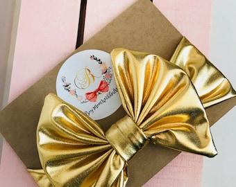 Gold Metallic toddler/child headband