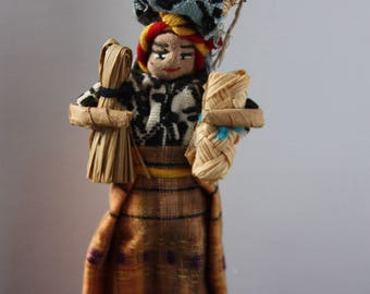 Vintage Guatemalan Ethnic Souvenir Doll, Guatemalan doll, collector doll, International souvenir doll, Souvenir doll, Folk art doll