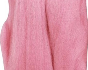 Clover Felting Natural Wool Roving Pink Part No. 7926
