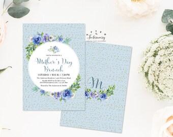 Mothers Day Brunch Invitation Mother's Day Invites Invitation Watercolor Floral Invitation Printable No.552MOM