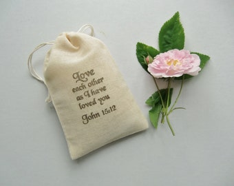 Wedding Gift Bags-Religious Favor Bags-Muslin Bags-Favor Bags-Wedding Favors-Bridal Shower Bags-Anniversary Bags-Favors for Guests
