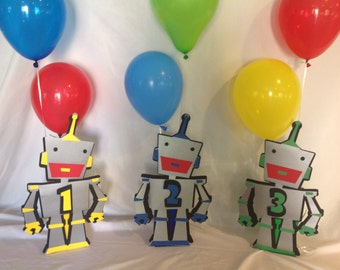 Robot Birthday Party Centerpiece