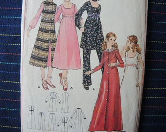 vintage 1960s Butterick sewing pattern 5983 misses one piece dress and pants size 14