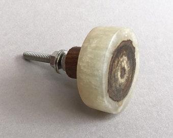 Geia Knob - Round Wood - Unique Cabinet Pull, Decorative Knobs, Dresser Knobs, Drawer Pulls
