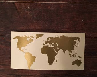 World map decal etsy popular items for world map decal gumiabroncs Gallery