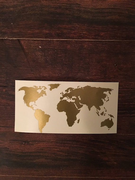 World map decal map decor home decor wedding travel like this item gumiabroncs Image collections