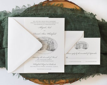 Bethesda Gate Wedding Invitation - Savannah Wedding - Savannah Bride - Simply Southern - Wedding Invitation Suite - Georgia Wedding