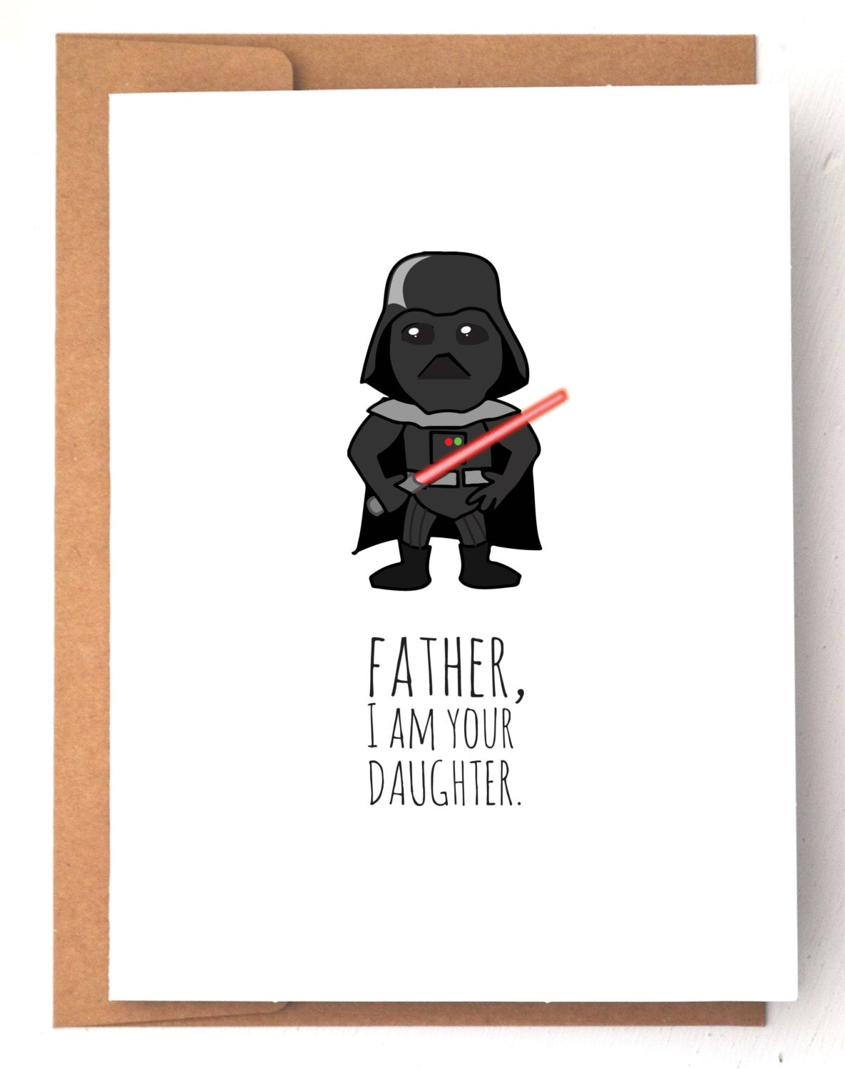 Fathers day card funny fathers day card star wars card zoom bookmarktalkfo Images