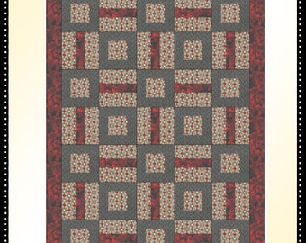 Downloadable Puzzle Me This Quilt Pattern Easy 3 Yard Design
