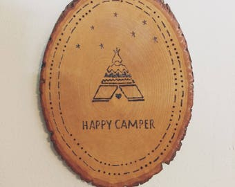 Happy Camper Wall Hanging