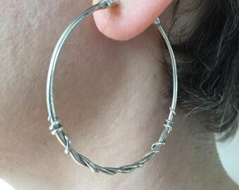 Snake Hoop Earrings, Snake Earrings, Snake Jewelry, Silver Snake Hoops, Silver Hoop Earrings, Witch Earrings, Witch Jewelry
