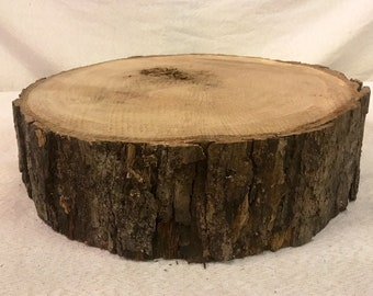 """White Oak 14 to 15"""" 4"""" thick wood slice. Centerpiece"""