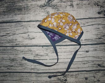 Baby Gift | Bonnet Baby Girl | Floral Bonnet | Bonnet Baby Hat | Reversible Bonnet | Baby Girl Clothes | Baby Shower Gift | Newborn Hats