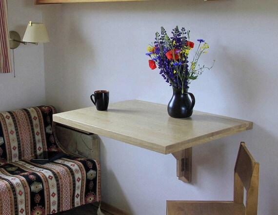 Tropfenblatt Tisch kleine Küche Ideen Wand montiert Tisch