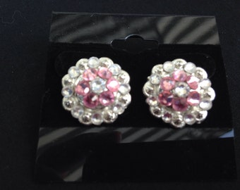 Swarovski Concho Stud Earrings