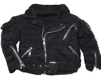Motorcycle Jacket Crochet Pattern