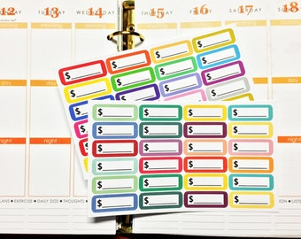 24 Simple Pay Day Label Stickers with option to CUSTOMIZE COLOR & TEXT for Erin Condren Life Planner, Plum Paper or KikkiK Planner