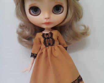 Great fall dress for pullip blythe azone momoko obitsu and similar dolls