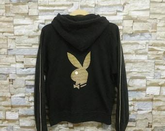 Vintage Playboy Jacket Sweater Hooded Big Logo Bunny Coach Monogram Playboy Sweatshirt