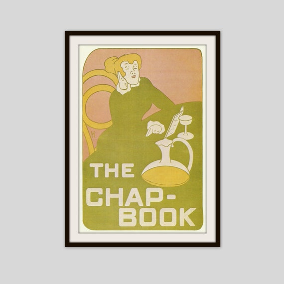 Poster Print Vintage Poster Art Nouveau The Green Lady The