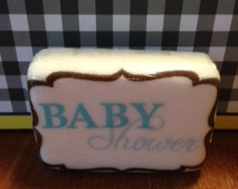 Baby Shower Soap with Decoupage