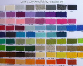 pure wool felt choose any 5 colours