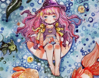 Fish Witch 12x18 Print