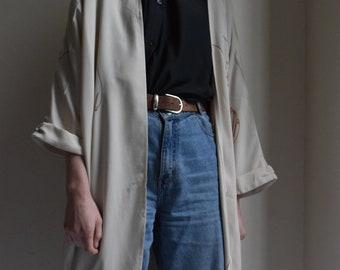 Bone Tencel Cocoon Kimono  |  Print Optional
