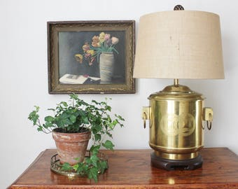 Brass 2 Handle Lamp