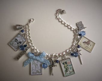 Peter Pan Charm Bracelet - Handmade, Unique (FREE or LOW COST shipping)