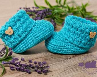 Crochet Baby Boots PATTERN, Newborn Pattern, Baby Booties Pattern, Baby Pattern, Crochet Shoes Pattern, Instant Download /4023/