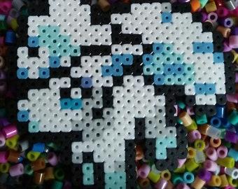 Pokemon Alolan Vulpix Perler Bead Pixel Art