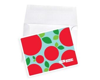 Teacher Gift Note Cards Kindergarten Teacher Gift Apple Personalized Apple Card for PreK Teacher Thank You Gifts Teacher Appreciation Cards