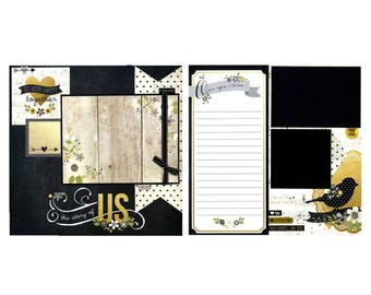 The Story of Us - Two 12x12 Premade Scrapbook Pages