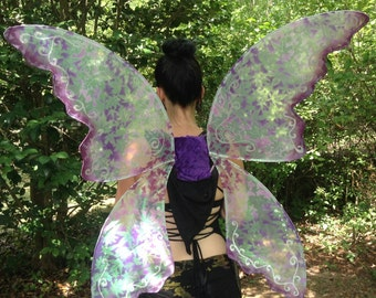OOAK Fantasy Faerie Sparkle Wings Adult XL Available in  Lavender/Purple, White, Greens, Blues, Pinks