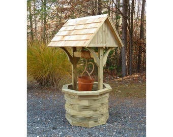 Woodworking Plans - 6 ft. Wishing Well - Illustrated with Photos!