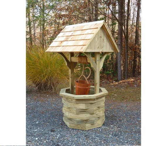 Woodworking Plans 6 ft. Wishing Well Illustrated with