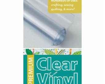 Clear Vinyl - 1 Package 12-gauge, 16 inches by 1.5 yards