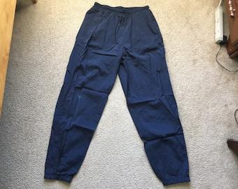 Men's Vintage 90s Nike Blue Classic Windbreaker Jogger Sweatpants Size Xl